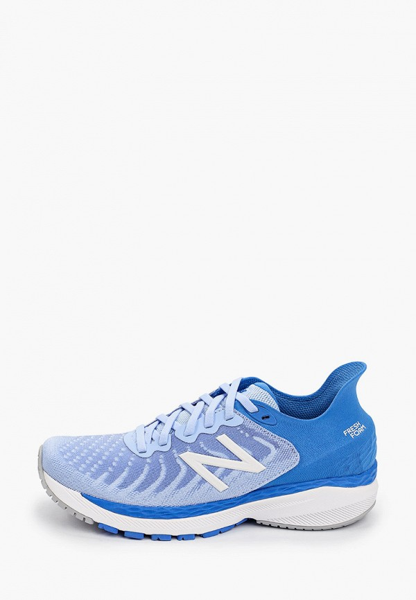 женские низкие кроссовки new balance, голубые