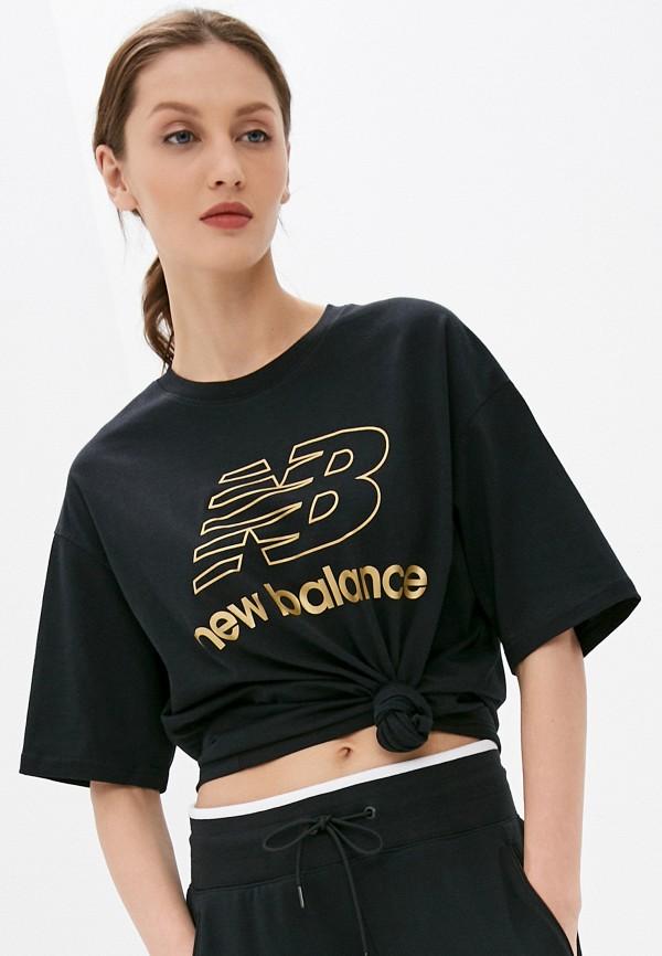 женская спортивные футболка new balance, черная