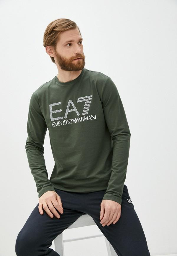 мужской лонгслив ea7, хаки