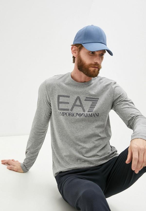 мужской лонгслив ea7, серый