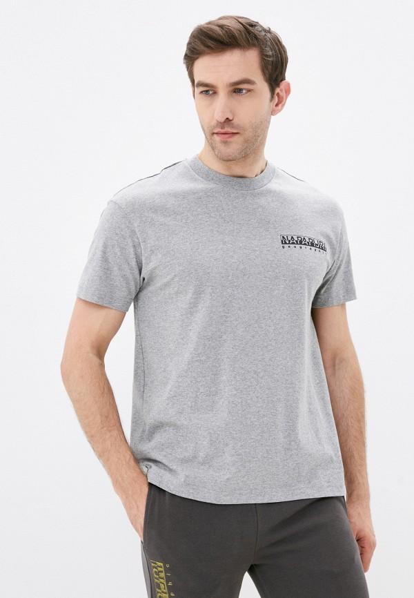 женская футболка с коротким рукавом napapijri, серая