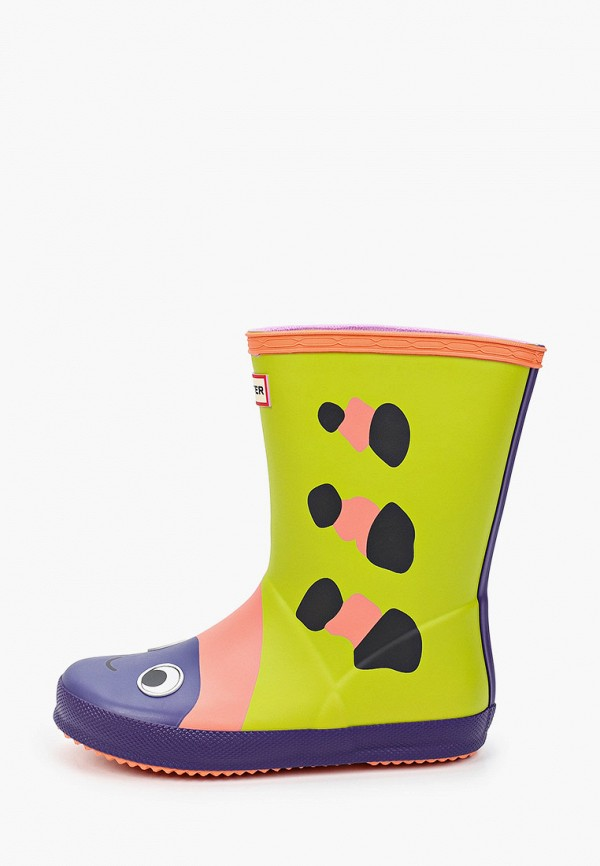 резиновые сапоги hunter для девочки, разноцветные