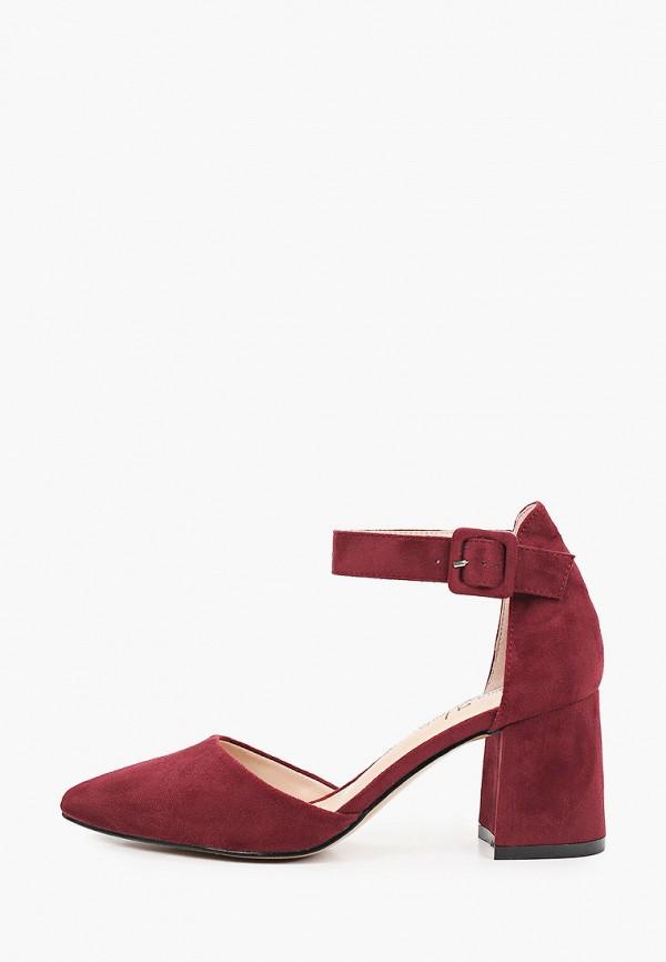 женские туфли bona mente, бордовые