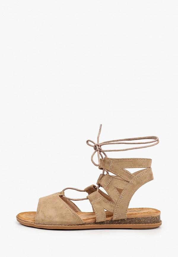 женские сандалии bona mente, коричневые