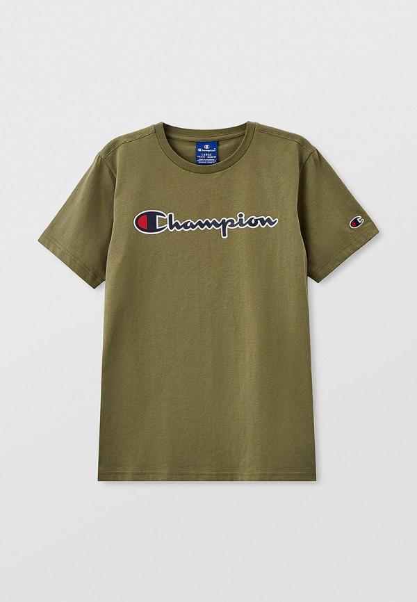 футболка champion для мальчика, хаки