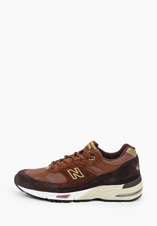 мужские низкие кроссовки new balance, коричневые