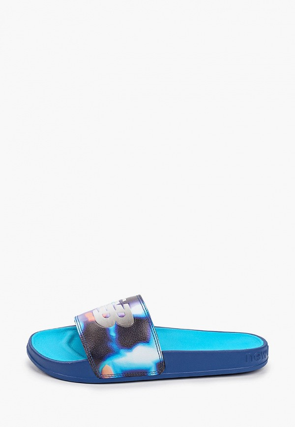 женское сабо new balance, синее