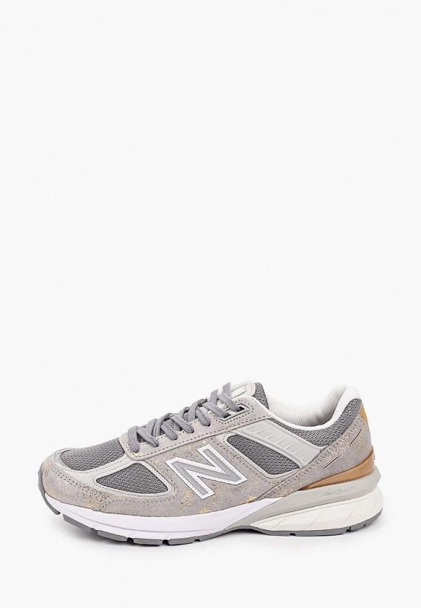 женские низкие кроссовки new balance, серые