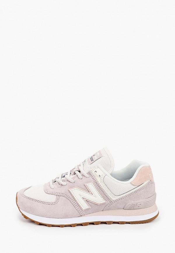 женские кроссовки new balance, бежевые