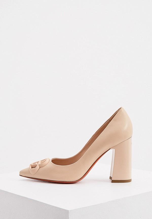 женские туфли с закрытым носом baldinini, бежевые