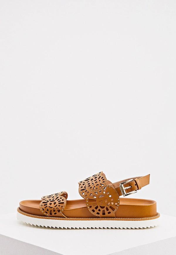 женские сандалии baldinini, коричневые