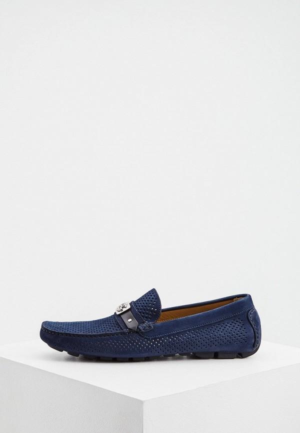 мужские мокасины baldinini, синие