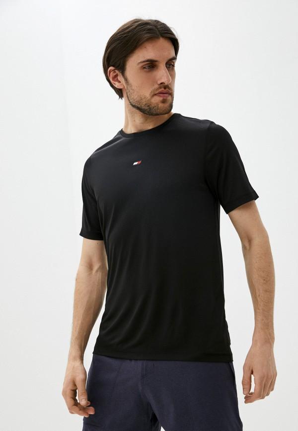 Футболка спортивная Tommy Hilfiger черного цвета