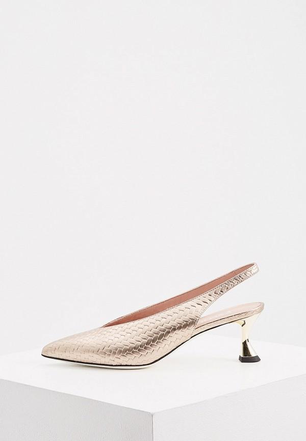 женские туфли pollini, золотые