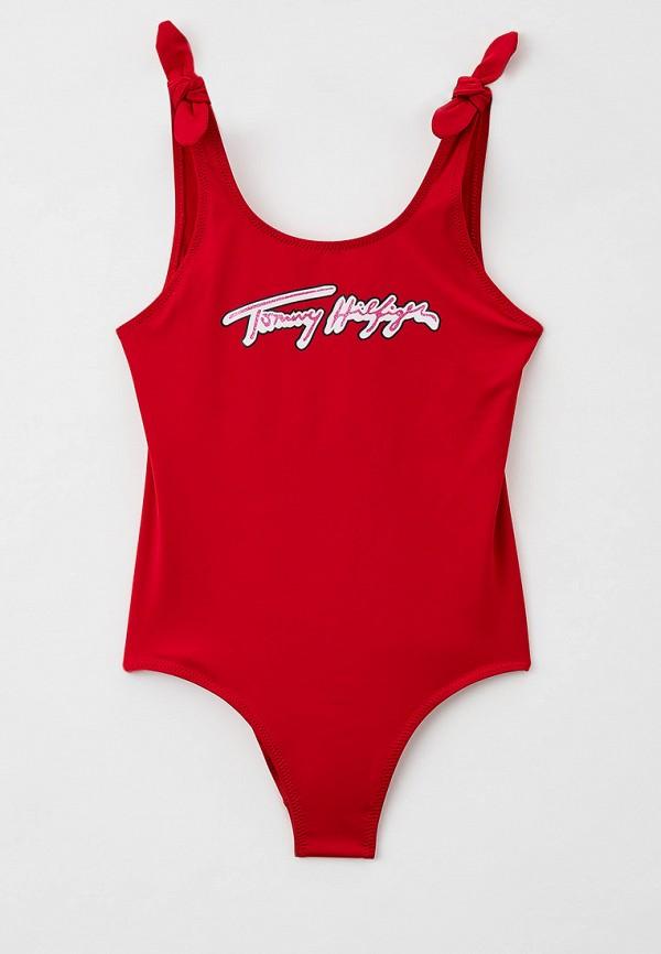 купальник tommy hilfiger для девочки, красный