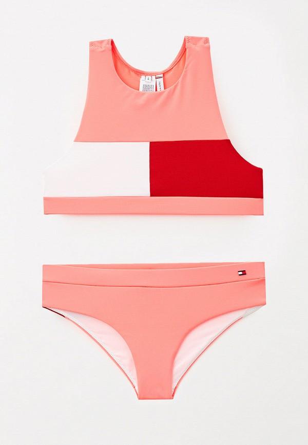 купальник tommy hilfiger для девочки, розовый