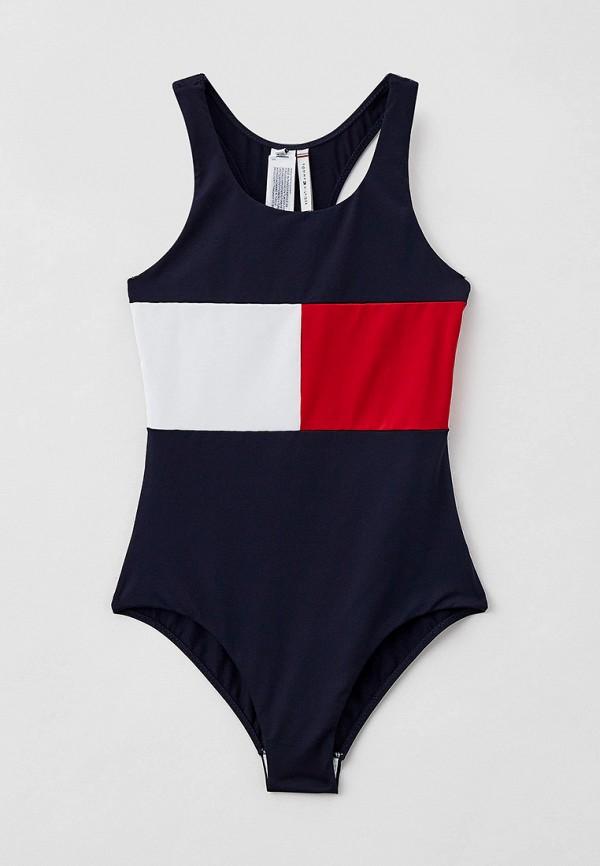 купальник tommy hilfiger для девочки, синий