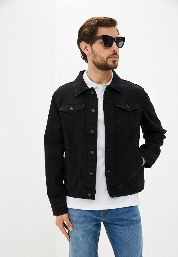 мужская джинсовые куртка ovs, черная