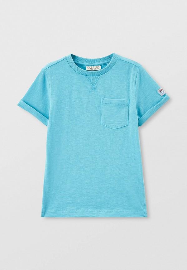 футболка с коротким рукавом ovs для мальчика, голубая