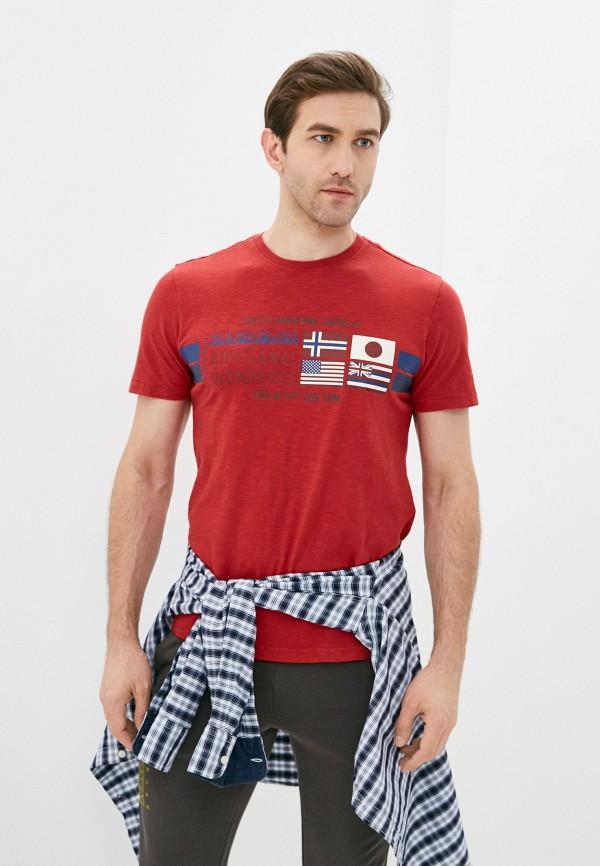 мужская футболка с коротким рукавом napapijri, красная