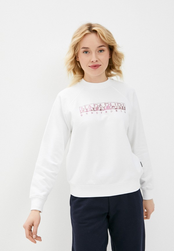 женский свитшот napapijri, белый