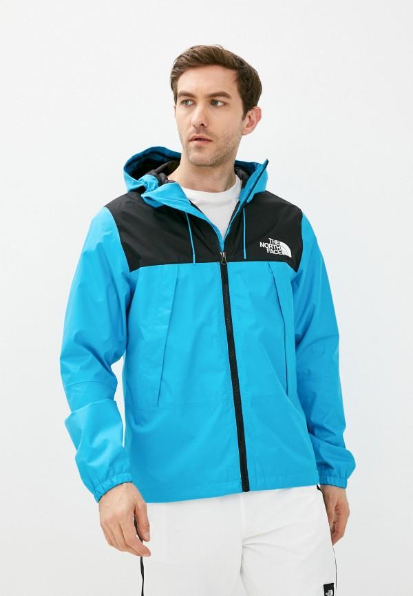 мужская куртка the north face, голубая
