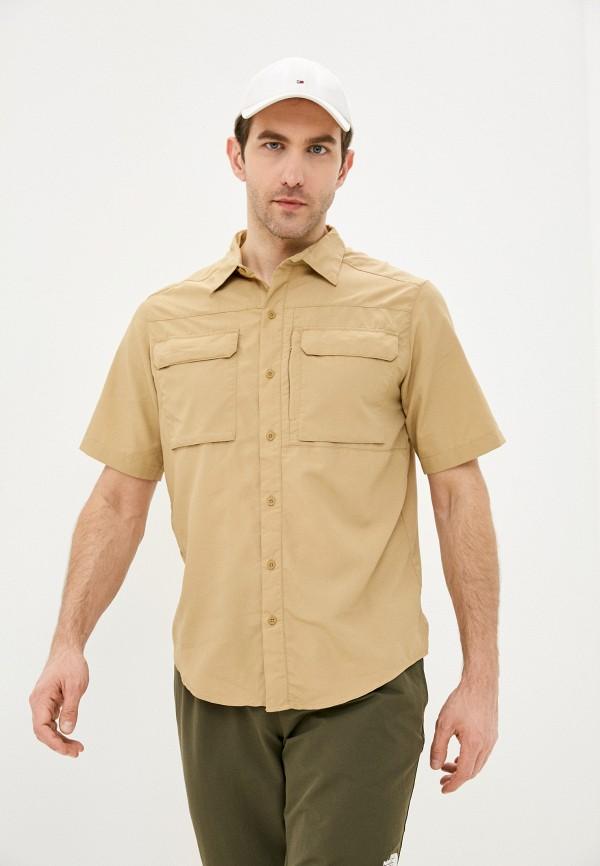мужская рубашка the north face, коричневая