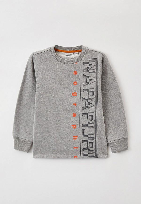 свитшот napapijri для мальчика, серый