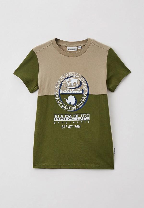 футболка с коротким рукавом napapijri для мальчика, разноцветная
