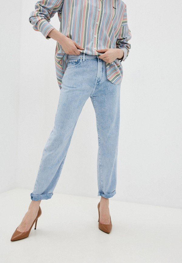 женские джинсы бойфренд jacob cohen, голубые