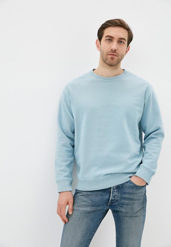 мужской свитшот quiksilver, голубой