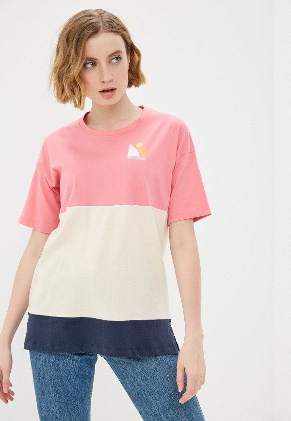 женская спортивные футболка roxy, разноцветная