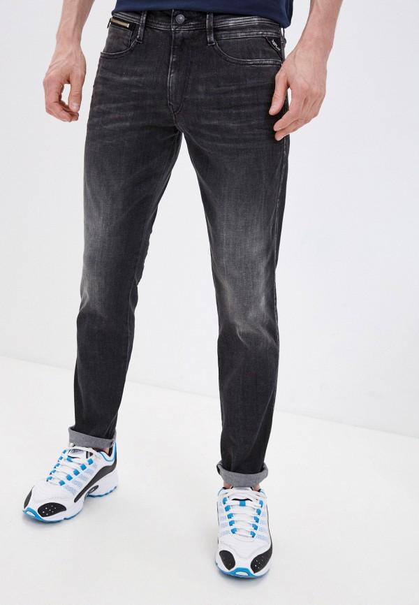 мужские зауженные джинсы replay, серые