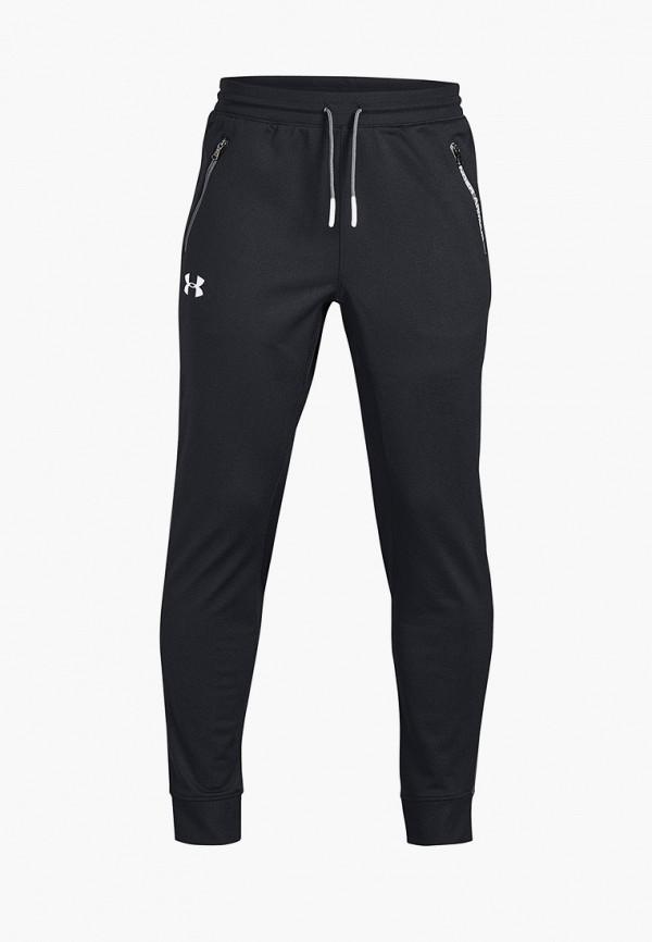 спортивные брюки under armour для мальчика, черные