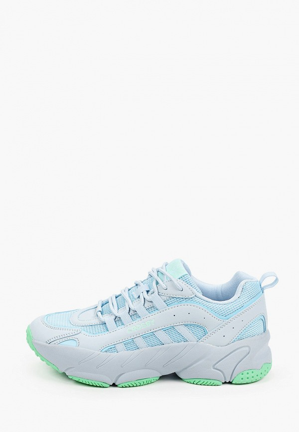 женские низкие кроссовки crosby, голубые