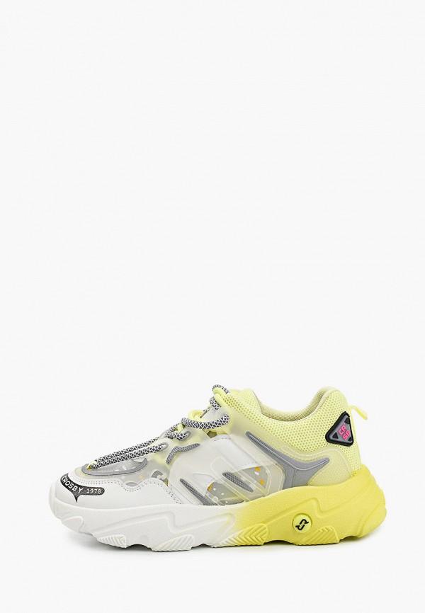 женские низкие кроссовки crosby, желтые