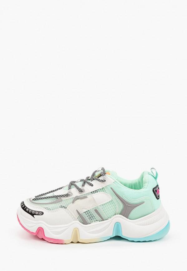 женские низкие кроссовки keddo, зеленые