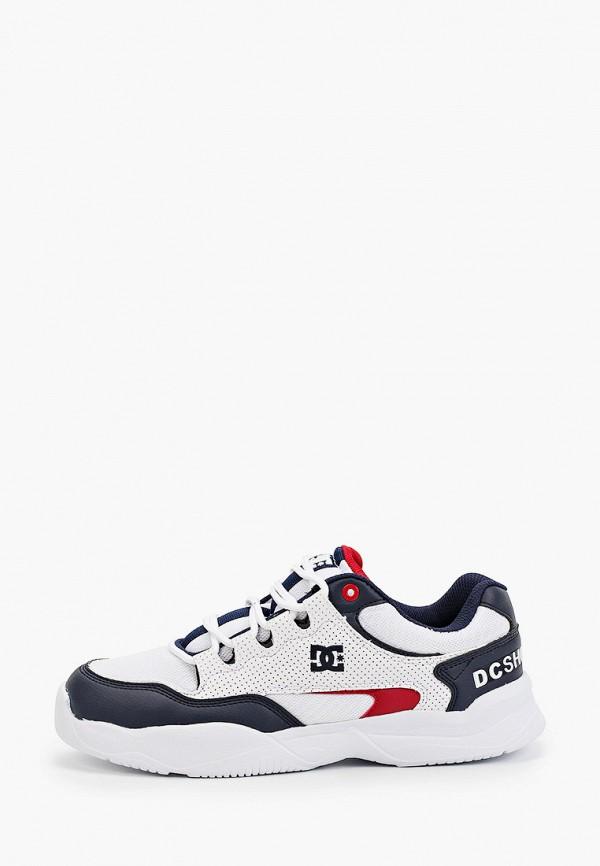 мужские низкие кроссовки dc shoes, белые