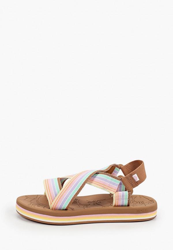 женские сандалии roxy, разноцветные
