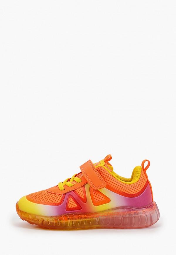 кроссовки crosby для девочки, оранжевые