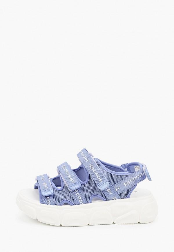 сандалии crosby для девочки, голубые