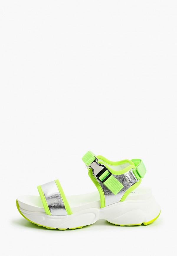 сандалии keddo для девочки, зеленые