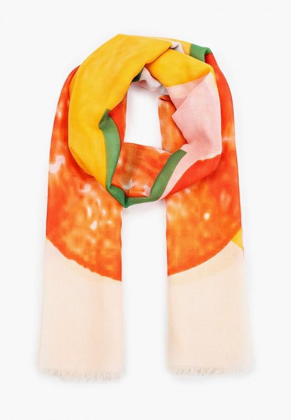 женский палантин venera, оранжевый