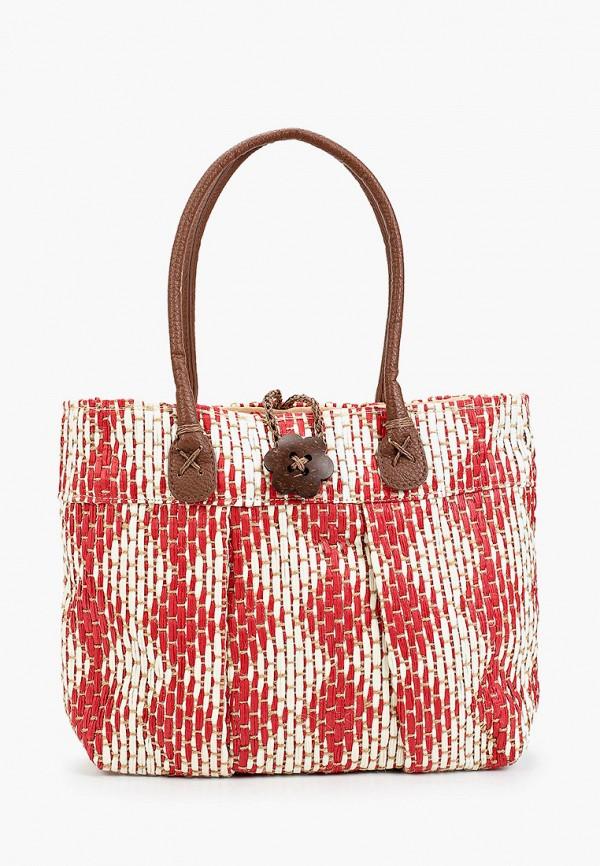 женская сумка с ручками venera, красная