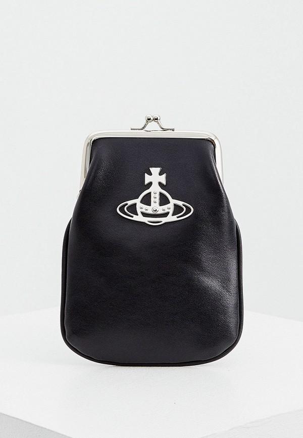 женская сумка через плечо vivienne westwood, черная