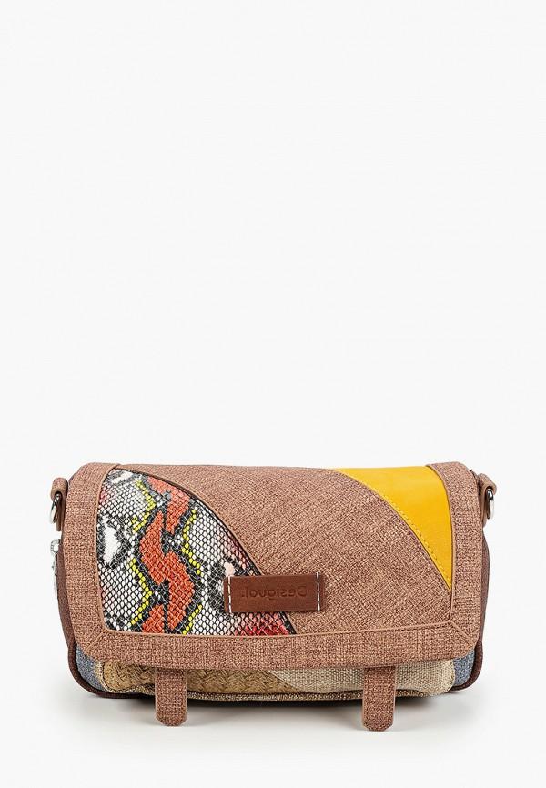 женская сумка с ручками desigual, разноцветная