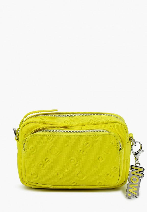 женская сумка через плечо desigual, желтая