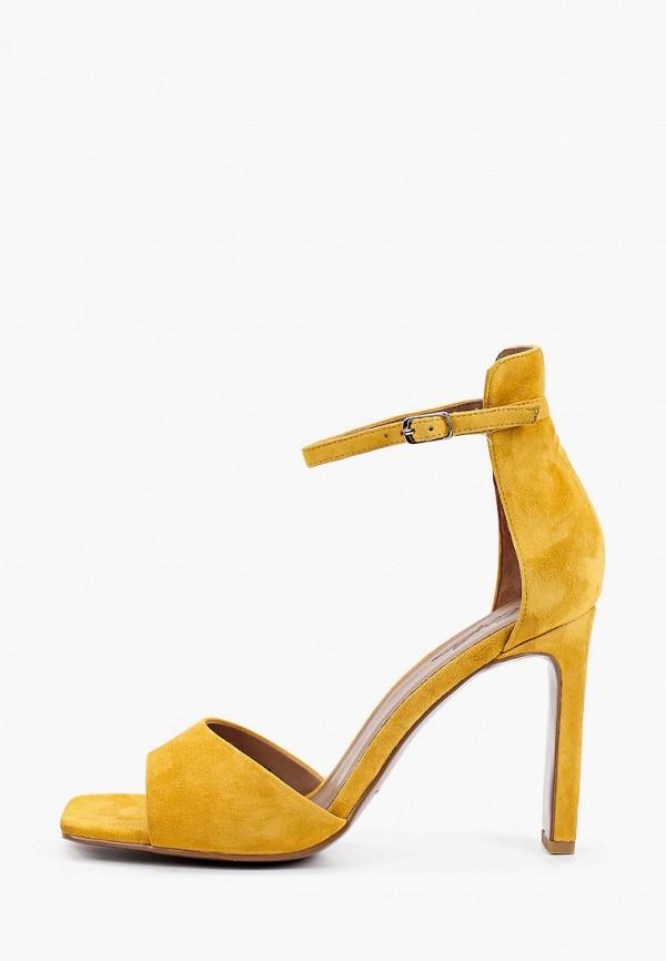 женские босоножки corso como, желтые