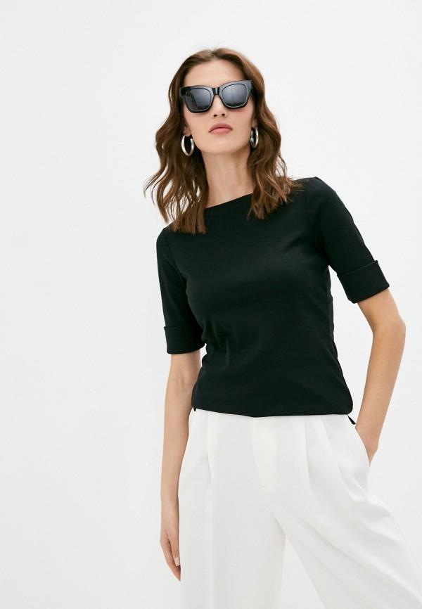 женская футболка lauren ralph lauren, черная