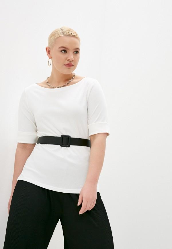 женская футболка lauren ralph lauren, белая